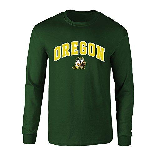 Oregon Ducks Long Sleeve Tshirt Arch Green - - The Elite Shirt