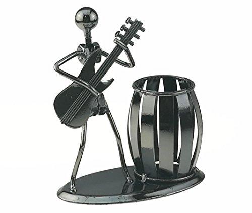 Music Iron Man Art Steel Pen Container Holder