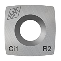 "Authentic Easy Wood Tools Ci1-R2 Square Carbide Replacement Cutter with 2"" Radius for Full and Pro Size Roughers Lathe Woodturning Tools Ci1-R2"