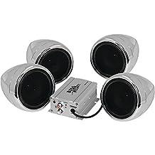 BOSS AUDIO MC470B 1,000-Watt Chrome Motorcycle/All-Terrain Speaker & Amp System (Bluetooth Audio Streaming)