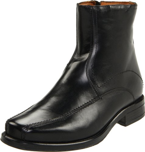 mens dress ankle boots black - 3