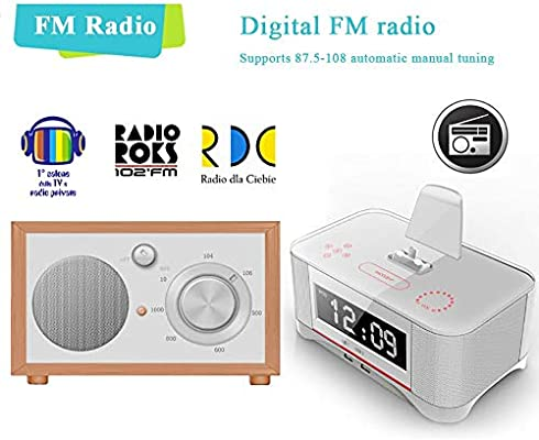 Estación de Carga USB, Bluetooth Reloj Radio Base Dock ...