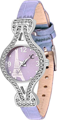 Youth Club Studded Purple Tiny Studded Watch – for Women