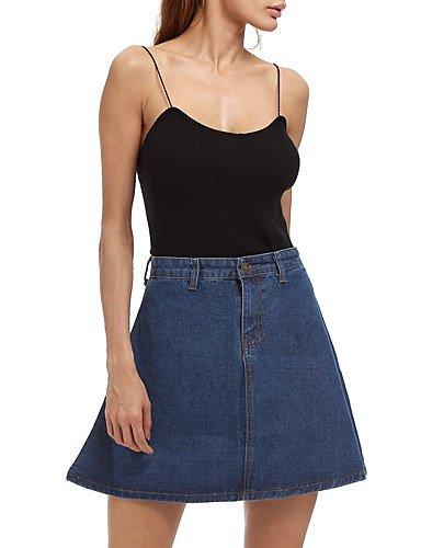 DD & Clothes firmar Mujeres Jeans Rock tamaño & # 39; s Europea y americana Comercio Amazon eBay aliexpress Faldas Paso Rock, azul real, extra-large: ...