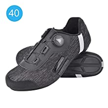 Keenso Cycling Shoes, Black Highway Cycling Shoes Wear-Resistant Anti-Skid Breathable Outdoors Riding Non-Lock Shoes(44)