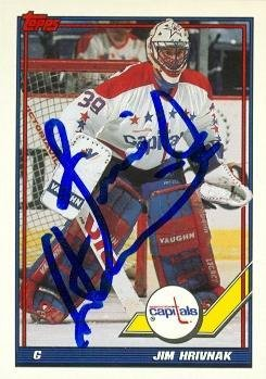 276a345ca77 Jim Hrivnak autographed Hockey Card (Washington Capitals) 1991 Topps  487 - Autographed  Hockey