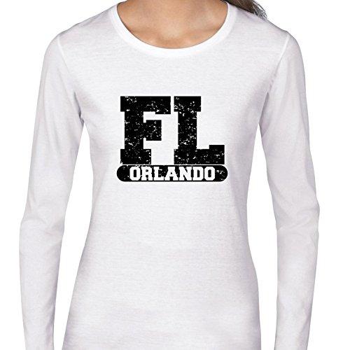Hollywood Thread Orlando, Florida FL Classic City State Sign Women's Long Sleeve T-Shirt