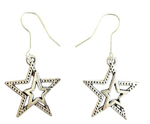 arete de moda para mujer, plata de ley 925, diseño de estrella con forma de estrella de collar,...