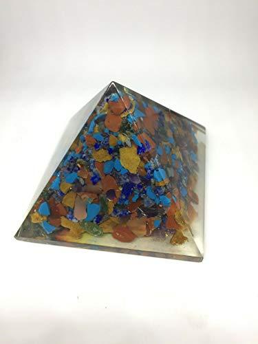 Extar Large 70-75Mm Multi Stone Orgonite Pyramid Emf Protection Orgone Energy