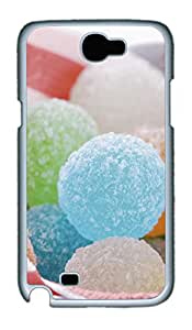 Samsung Note 2 Case Colorful candy PC Custom Samsung Note 2 Case Cover White