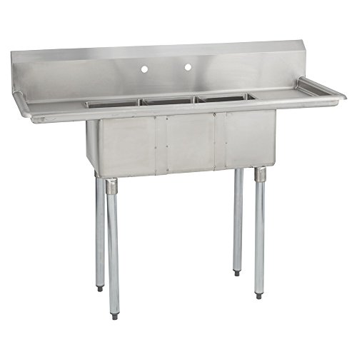 Fenix Sol Three Compartment Stainless Steel Sink, Bowl: 10