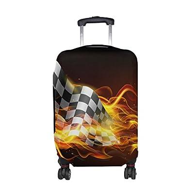 ee50428de601 low-cost DEYYA Fiery Race Flag Spandex Travel Luggage Cover Baggage ...