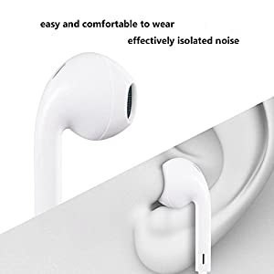Earbuds,Supcible iPhone Headphones With Microphone Stereo In-Ear Wired Earphones with Mic and Remote Control for iPhone 6s 6 Plus 5s 5 4s 4 SE 5C iPad iPod 7 8 7s IOS S8 7 6 Note 1 2 3