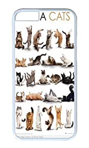 Iphone 6 Case Yoga Cats White PC Hard Case For Apple Iphone 6 4.7 Inch