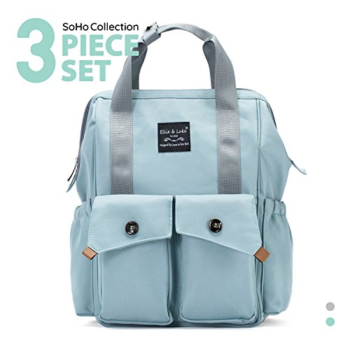 SoHo diaper bag backpack Rockaway Beach 3pieces nappy tote b