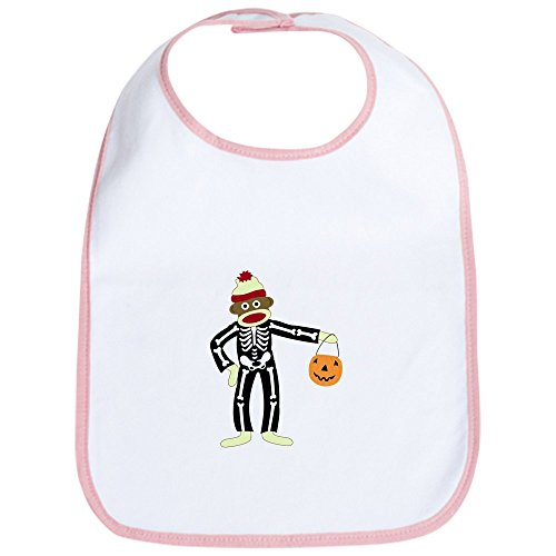 - CafePress - Sock Monkey Halloween Skeleton Baby Bib - Cute Cloth Baby Bib, Toddler Bib