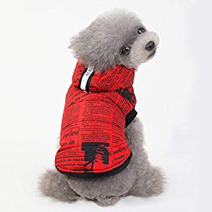 Sunward Puppy Kitty Clothing,Pet Dog Shirt Color Stitching Coat Sweatshirt Puppy Pets Cat Warm Clothes Coat
