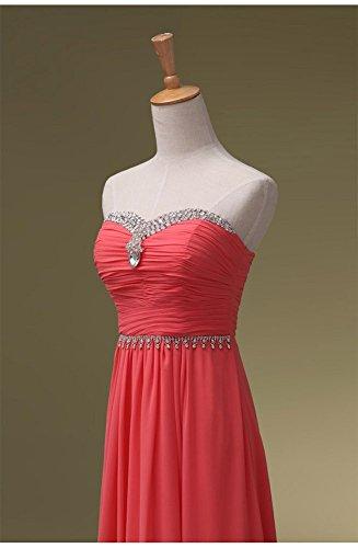Beauty-Emily -  Vestito  - Moda - Senza maniche  - Donna Rosa  40