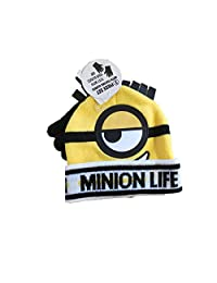 Despicable Me Minion Little Boys Winter Hat and Gloves Set
