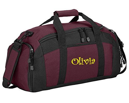 Sport Duffel Bag by All About Me Company | Personalized Monogram/Name Gym Bag (Maroon) ()