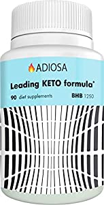 Adiosa Keto Carb Blocker Weight Loss Pills - Supplements to Burn Fat Fast - 90 pills - Premium Keto Supplement - Keto Appetite Suppressant for Women & Men - Keto Meal Replacement