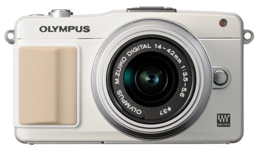 Olympus E-PM2 Mirrorless Digital Camera with 14-42mm Lens (White) (Old Model)