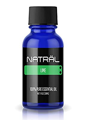 NATRÄL Lime, 100% Pure and Natural Essential Oil, Large 1 Ounce Bottle
