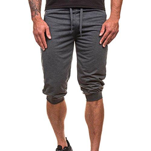 - iZHH Mens Casual Jogger Sportwear Baggy Harem Pants Slacks Trousers Sweatpants(Dark Gray,34)