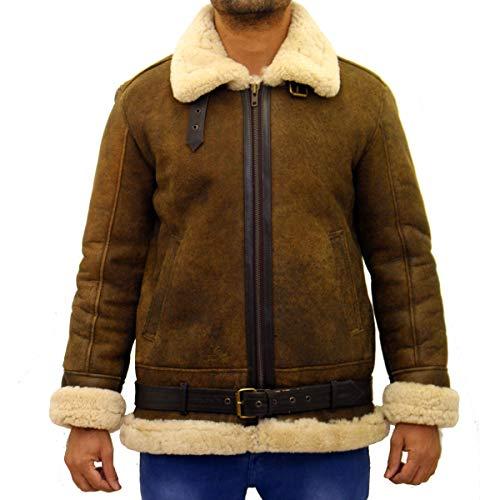 con Chaqueta B3 cintur de para oveja deportiva piel hombres de FxH8wpF4