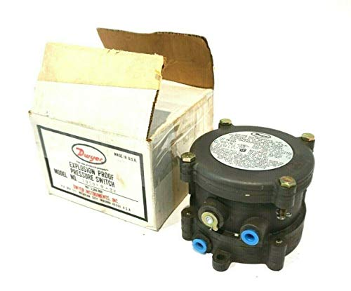 Dwyer Series 1950 Explosion-Proof Differential Pressure Switch, Range 0.15-0.50