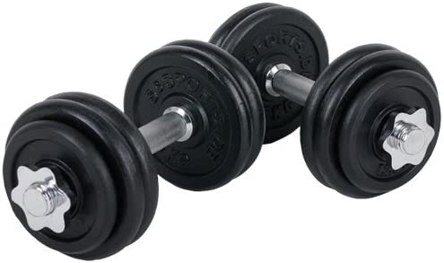 Hanteln Gewicht Set Einstellbarem Hantel Platten mit Freiem Gewicht Hantelset mit 4 Spinlock Kragen Und 2 Verl/ängerungsstangen BESPORTBLE 30KG Kurzhantelset