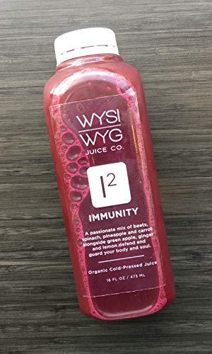 WYSIWYG Cold Pressed Plant Powered Fruit & Veggie Juice 16oz 5pk (IMMUNITY)
