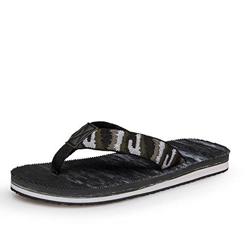 Sommer-Camo Flip flops/Komfort Hausschuhe schlüpfen Unterhaltung-C Fußlänge=26.8CM(10.6Inch)