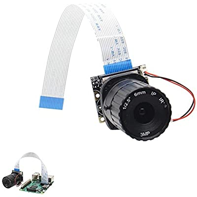 ZhanPing 6mm Focal Length Night Vision 5MP NoIR Camera Board With IR-CUT Fit For Raspberry Arduino compatible