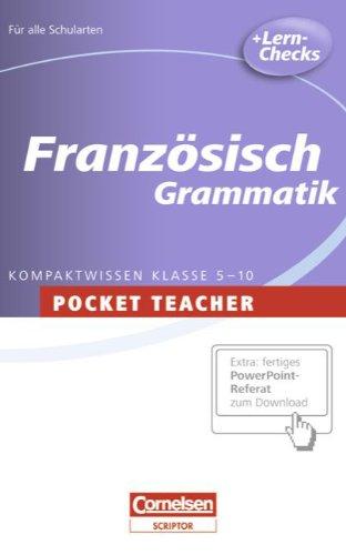 Pocket Teacher - Sekundarstufe I: Französisch: Grammatik