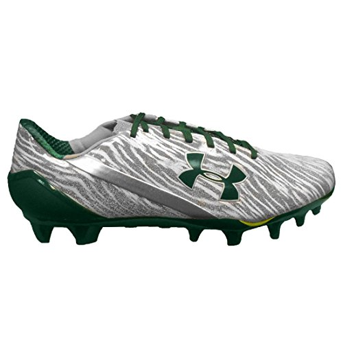 Under Armour Spotlight MC Football Cleats (10, Metallic Silver/White/Green)