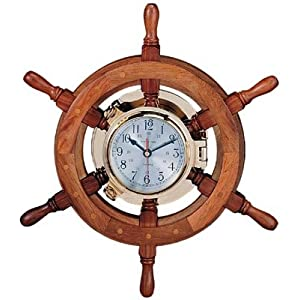41ewp3Uve1L._SS300_ Best Ship Wheel Clocks
