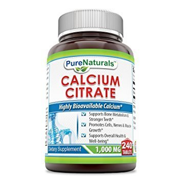 Pure Naturals Calcium Citrate Tablets, 1000 mg, 240 Count For Sale