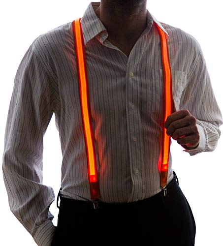 (Neon Nightlife Men's Light Up LED Suspenders, One Size,)