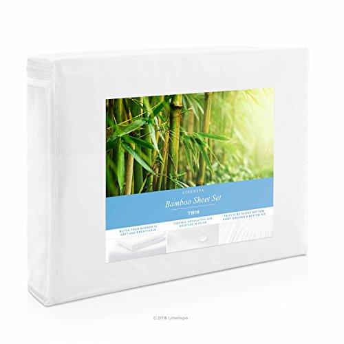 LINENSPA Ultra Soft Luxury 100% Rayon from Bamboo Sheet Set - Twin...