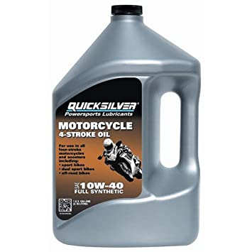 Amazon.com: Aceite de moto Quicksilver 10W40, galón: Automotive
