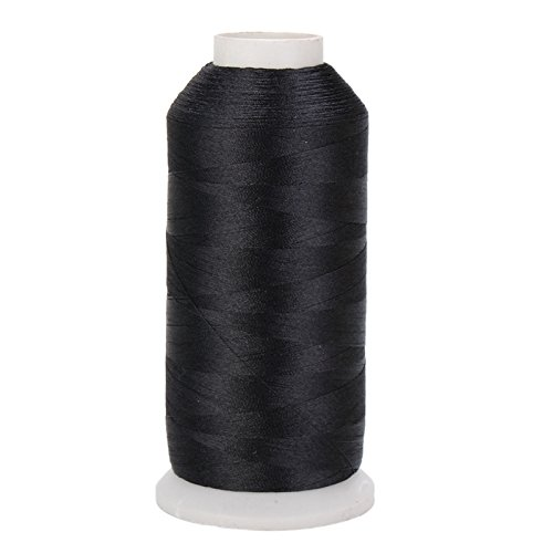 1 Pc 5000m Cones Polyester Bobbin Thread Filament For Embroidery Machine Household Sweing Handmade Tools Accessories Color Black