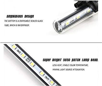 per Pesci AILOVA 18//28//38//48 cm Lampada a Tubo per Acquario Impermeabile a LED