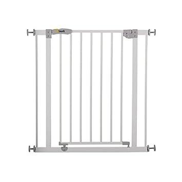 Hauck Open N Stop Türschutzgitter/Treppengitter/75-80 cm/ohne Bohren/erweiterbar mit Verlängerungen von 9 cm und 21 cm bis 12