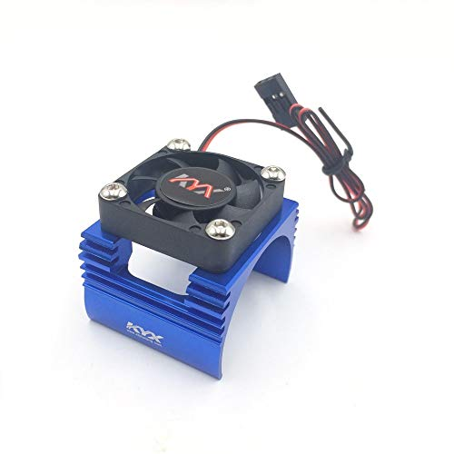 (KYX Racing Alloy Heatsink with Cooling Fan for RC Crawlers 540 550 Size Motor)