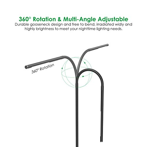 Joly Joy LED Modern Floor Lamps, Flexible Gooseneck Standing Reading Light W/Stable Base, 4 Color & 5 Brightness Dimmer, Touch & Remote Control, for Living Room, Chair, Couch, Office Task (Black) by Joly Joy (Image #3)