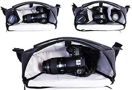 Color : Black Wecnday-Home Electronic Organizers Shoulder Messenger Bag Digital Camera Bag Waterproof and Lightweight Camera Back Pocket Digital Storage Bag Travel Electronics Accessories