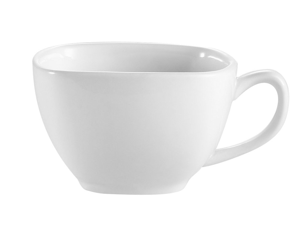 CAC China KSE-1 Kingsquare 3 3/4-Inch Porcelain Square Cup, 8-Ounce, Super White, Box of 36