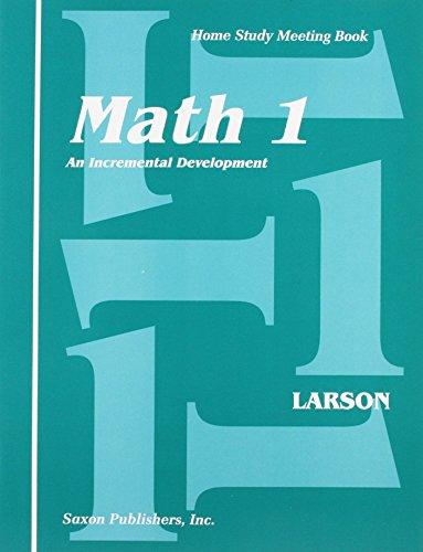 Saxon Math 1: An Incremental Dev...