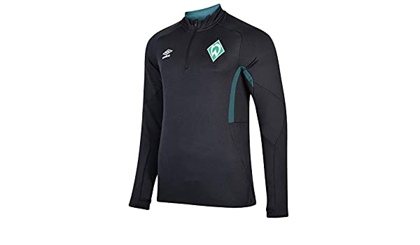 Umbro 2019-2020 Werder Bremen Half Zip Training Top Black